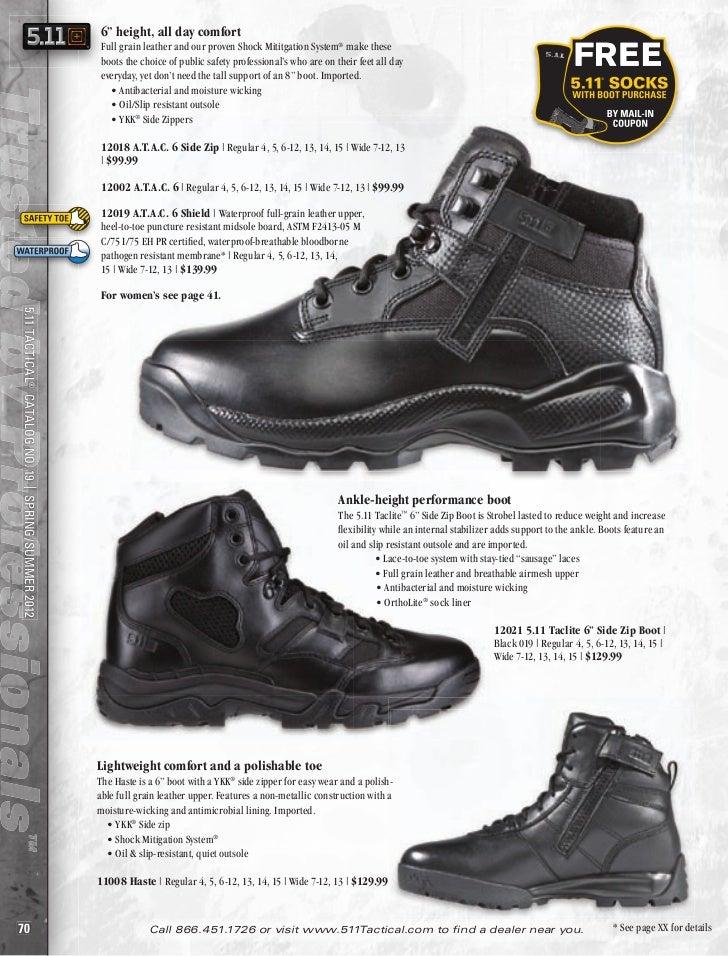 Sizes 7 to 13 Black Leather//Nylon Patrol Boot