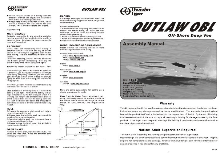 Manuale Outlaw OBL
