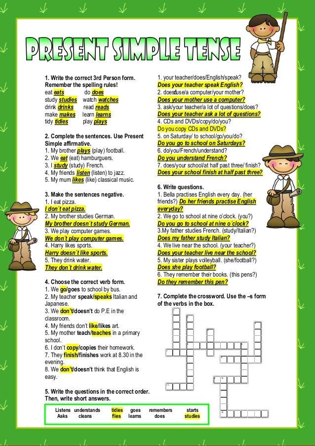 Significado en español write the questions
