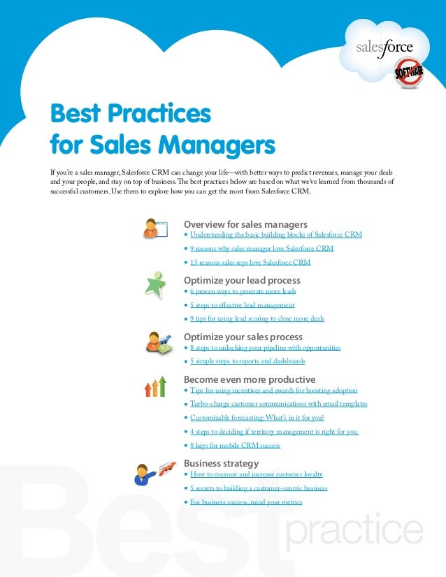 Overview for sales managers▪ Understanding the basic building blocks of Salesforce CRM▪ 9 reasons why sales manager love S...