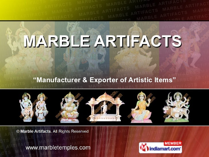 "MARBLE ARTIFACTS  "" Manufacturer & Exporter of Artistic Items"""