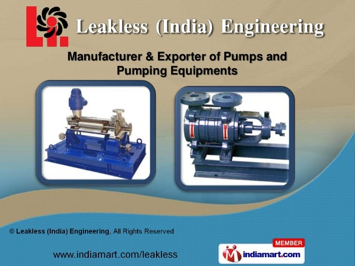 Manufacturer & Exporter of Pumps and       Pumping Equipments