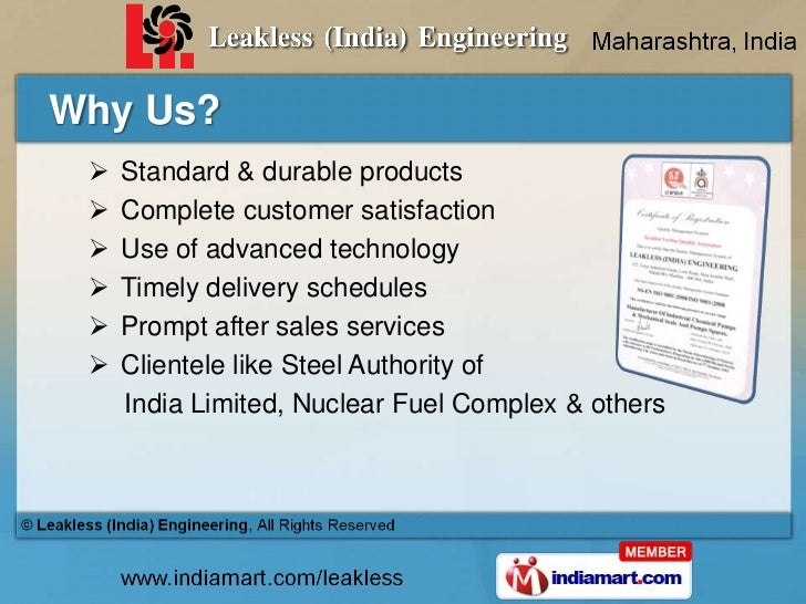 Pump & Pumping Equipment by Leakless (India) Engineering, Mumbai Slide 3