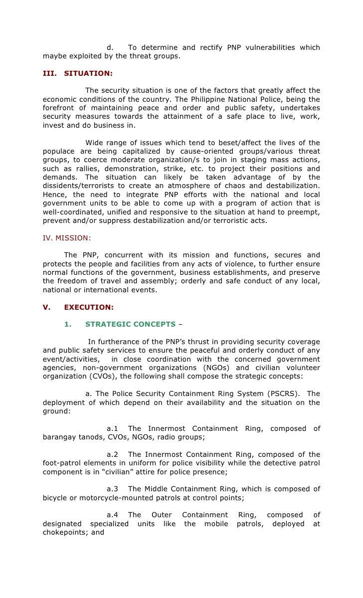PNP MASTER PLANS