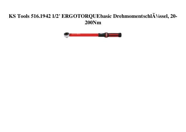 KS Tools 516.1942 1/2' ERGOTORQUEbasic Drehmomentschlüssel, 20- 200Nm