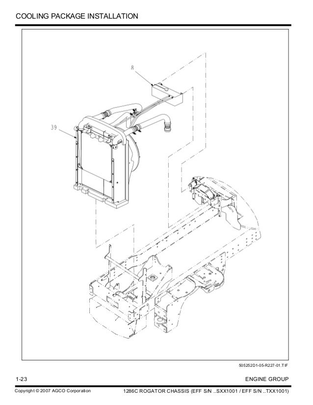 Challenger 1286 C Rogator Chassis Parts Catalog