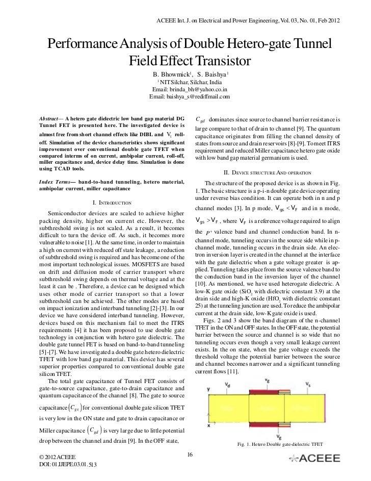Performance Analysis of Double Hetero-gate Tunnel Field