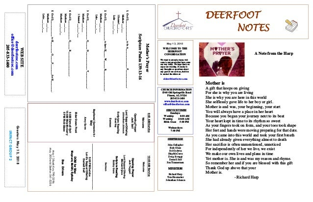May 13, 2018 GreetersMay13,2018 IMPACTGROUP2 DEERFOOTDEERFOOTDEERFOOTDEERFOOT NOTESNOTESNOTESNOTES WELCOME TO THE DEERFOOT...