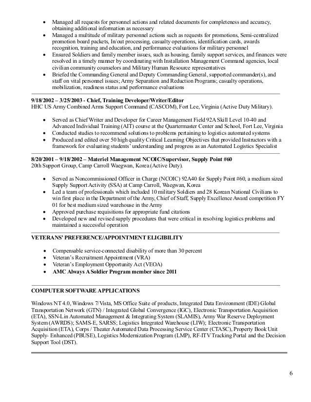 logistics management specialist resume gallery resume format