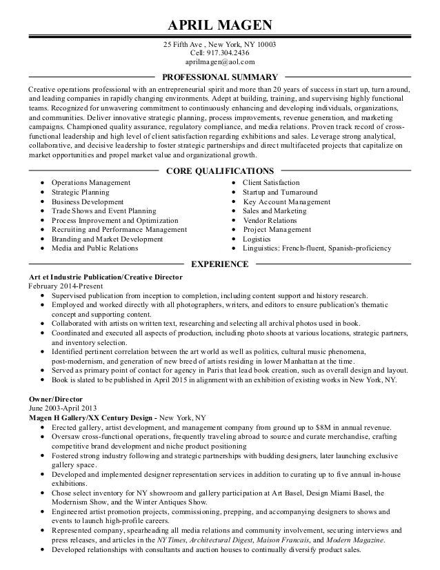 Copy of Professional Resume for April Magen-3
