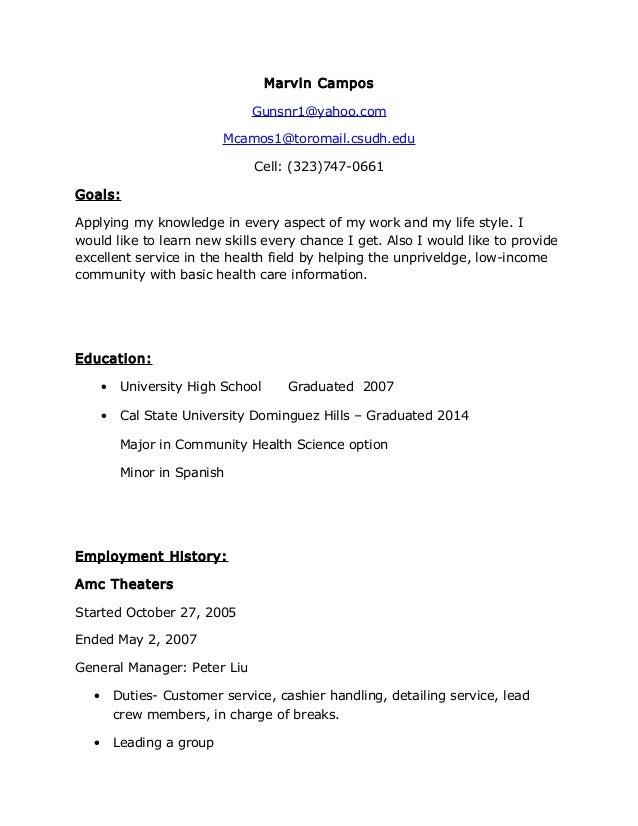 Marvin Resume Sheek