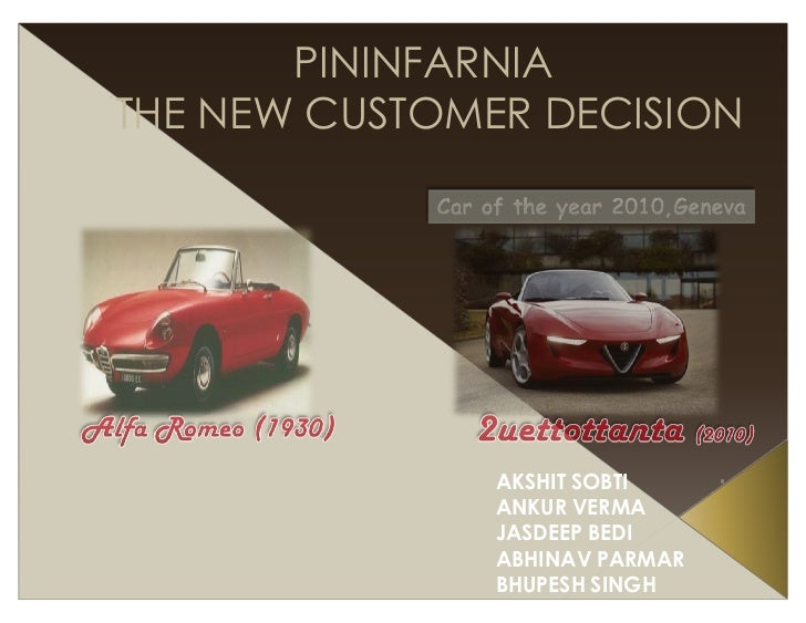 Industrie Pininfarina: The New Customer Decision Case Solution