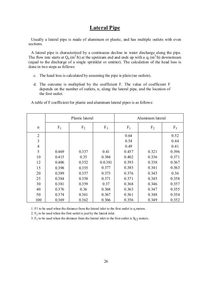 pipe line calculation