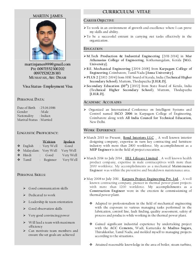 MARTIN JAMES martinjames999@gmail.com PH: 00971552300202 00971528226383 MUSSAFAH, ABU DHABI Visa Status- Employment Visa P...