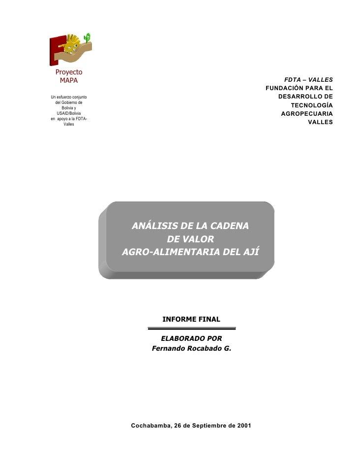 Proyecto   MAPA                                                             FDTA – VALLES                                 ...