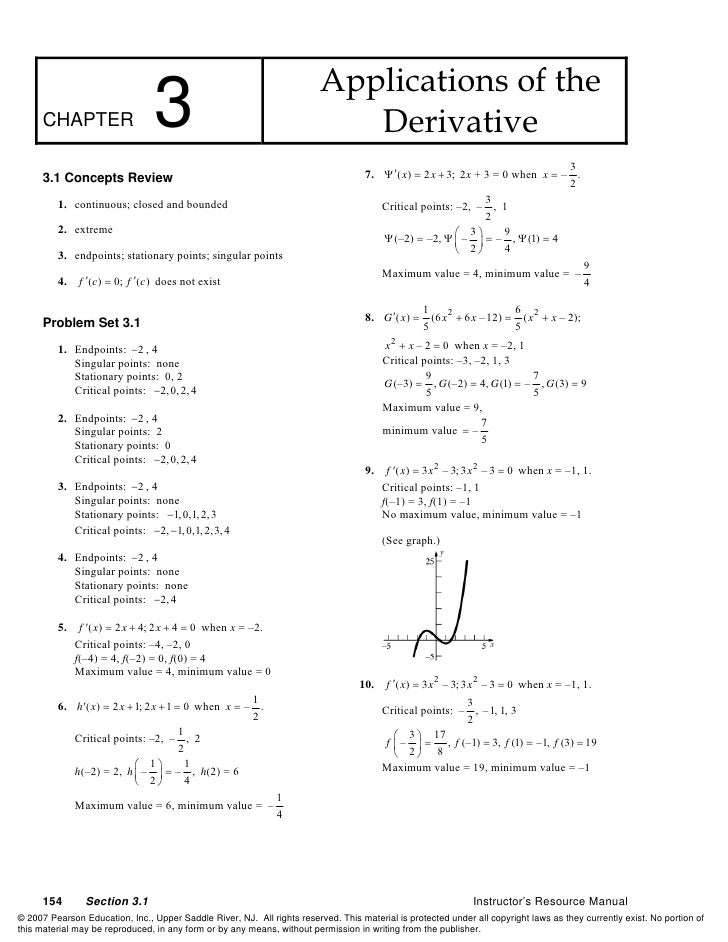 Applications of the       CHAPTER                    3                                          Derivative                ...