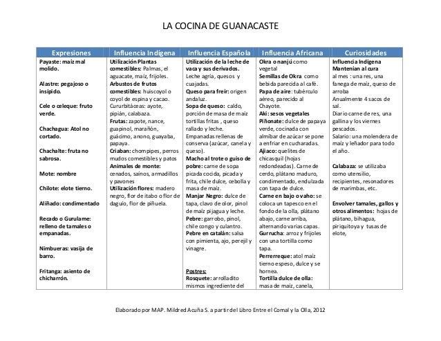 5155 tema 4 resumen la cocina de guanacaste for Resumen del libro quimica en la cocina