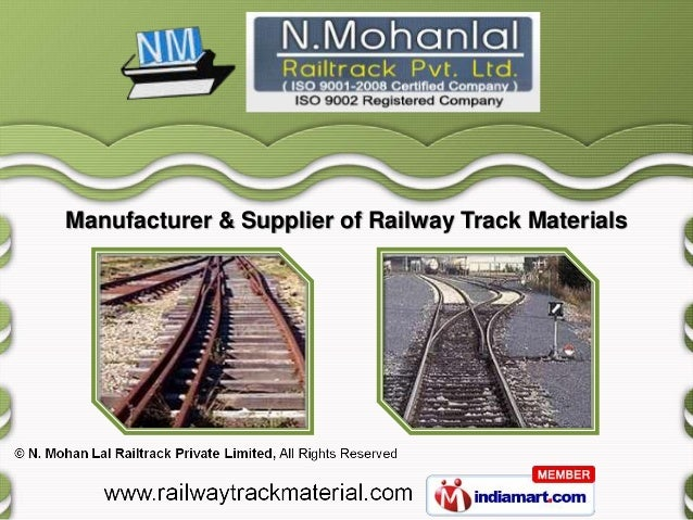 Manufacturer & Supplier of Railway Track Materials