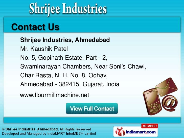 Flour Machines By Shrijee Industries Ahmedabad Ahmedabad