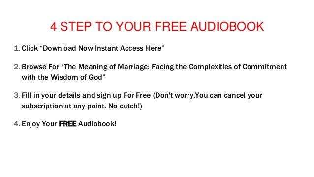 Audiobook Download Mp3 Android The Meaning of Marriage