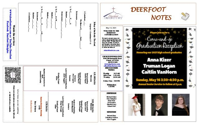 DEERFOOT DEERFOOT DEERFOOT DEERFOOT NOTES NOTES NOTES NOTES May 16, 2021 Let us know you are watching Point your smart pho...