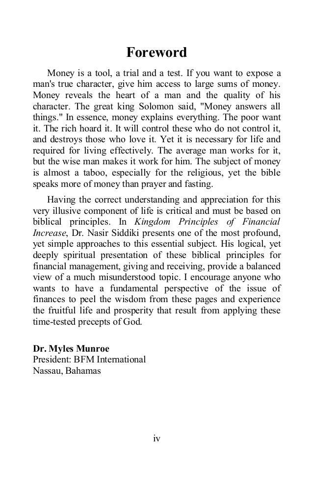 Kingdomprinciplesoffinancialincrease Dr Nasir Siddiqui