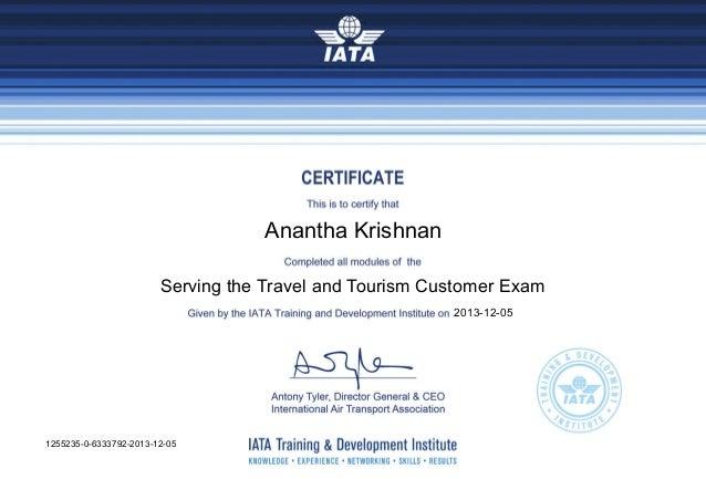 iata certificate slideshare upcoming شهاده