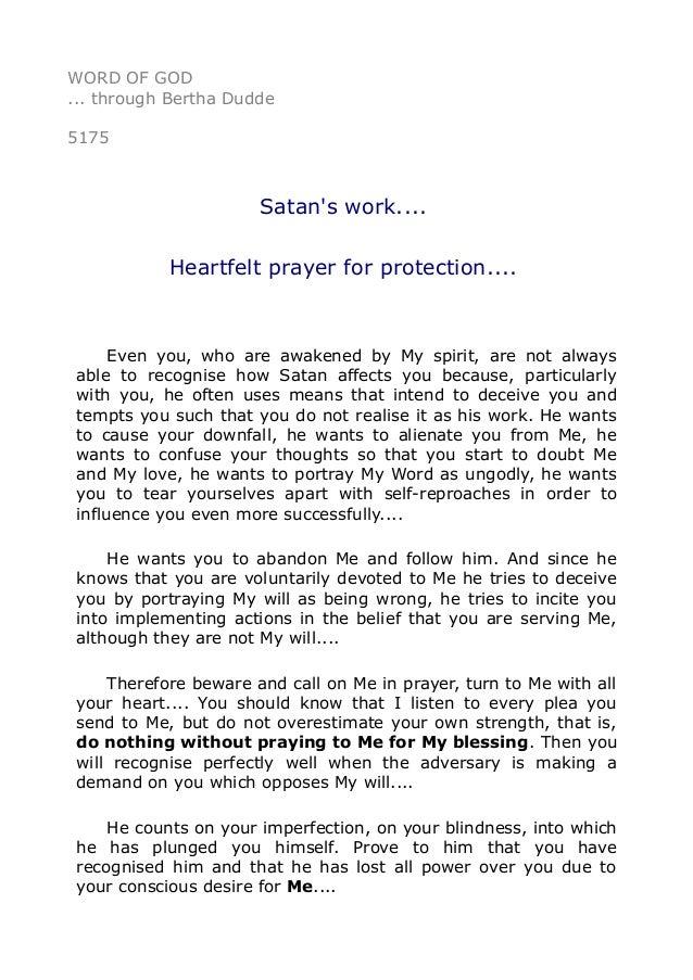 5175 Satan S Work Heartfelt Prayer For Protection