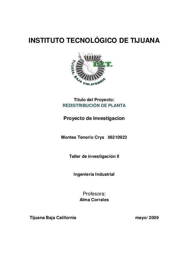 51778799 redistribucion de planta proyecto de investigacion for Proyecto de investigacion de plantas ornamentales