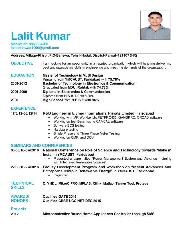 Net qualified resume