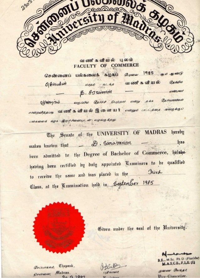 Madras university degree certificate sample gallery certificate madras university degree certificate sample thank you for visiting yadclub nowadays were excited to declare that we have discovered an incredibly yadclub Image collections