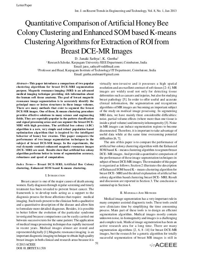 Letter Paper Int. J. on Recent Trends in Engineering and Technology, Vol. 8, No. 1, Jan 2013  Quantitative Comparison of A...