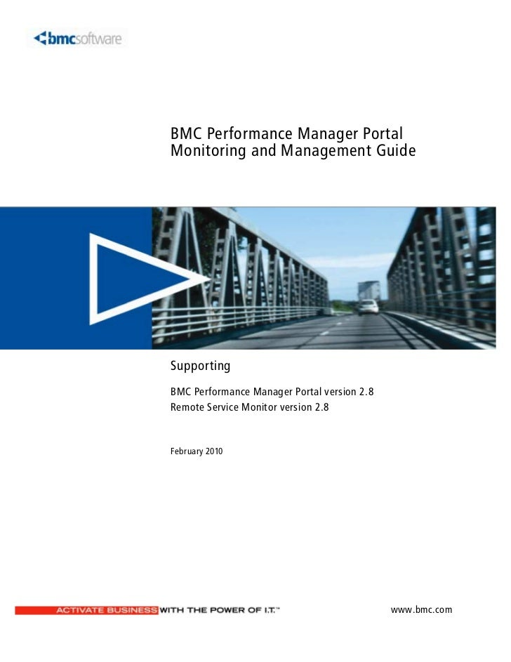 BMC Performance Manager PortalMonitoring and Management GuideSupportingBMC Performance Manager Portal version 2.8Remote Se...