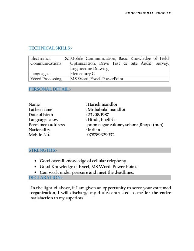 harish new resume