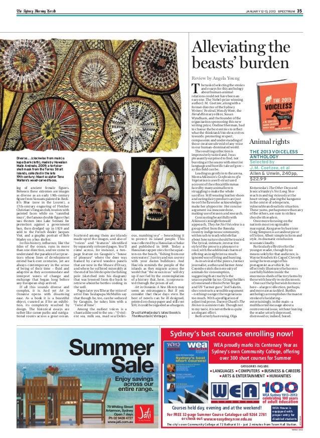 1HERSA1 0035 The Sydney Morning Herald JANUARY 12-13, 2013 SPECTRUM 35 Diverse ... (clockwise from main) a kapa (bark clot...