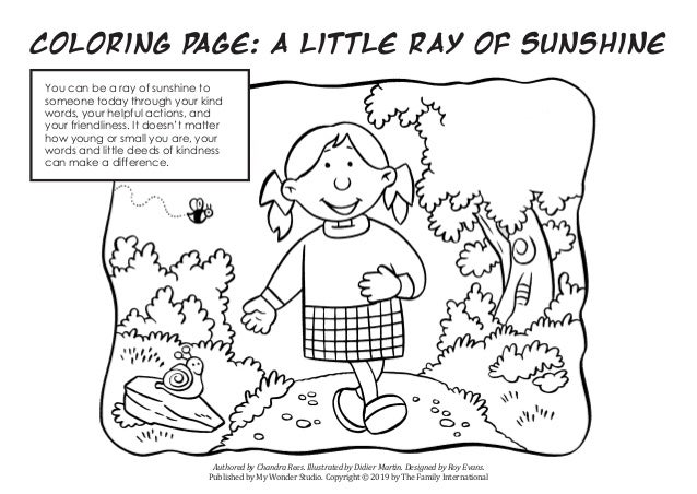 Coloring Page: A Little Ray Of Sunshine