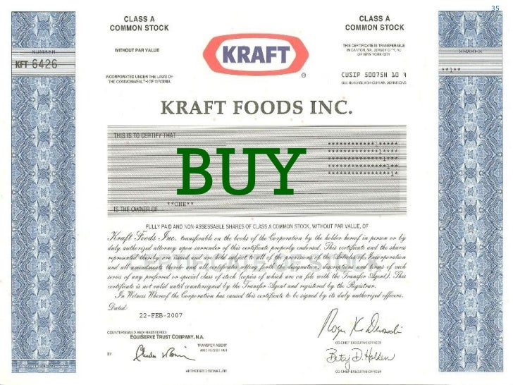 analysis of kraft foods inc essay