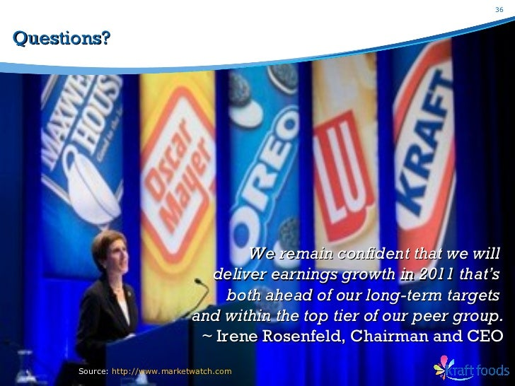 swot analysis of kraft foods inc Research and markets: kraft foods inc (kft): company profile and swot analysis - 2012.