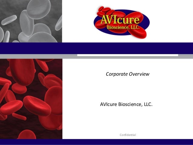 Corporate Overview AVIcure Bioscience, LLC. Confidential