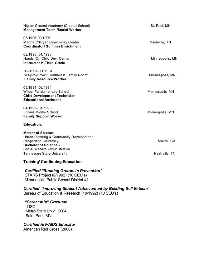 education-focused resume