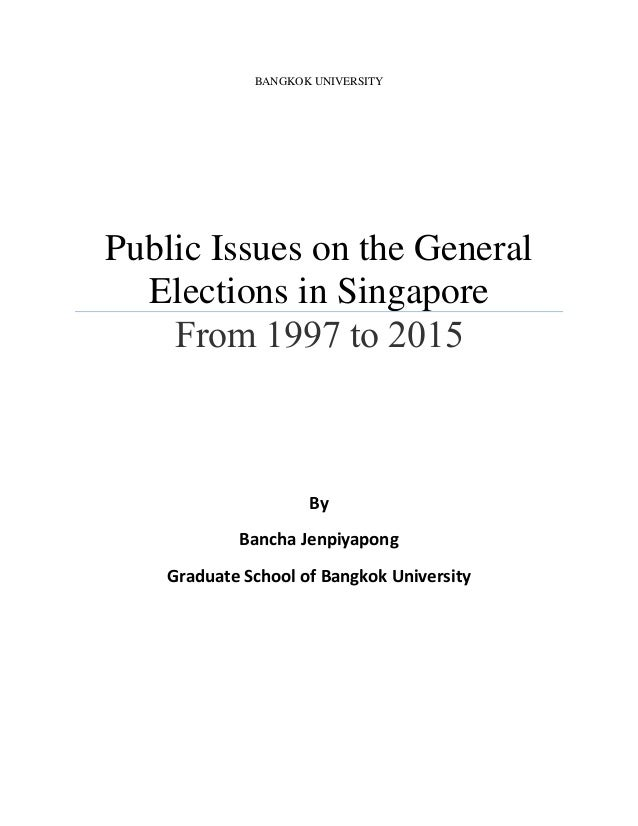 1997 Singaporean general election