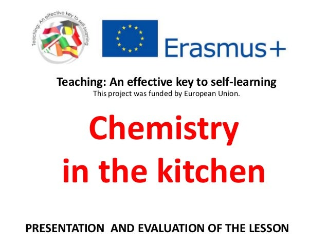 role of chemistry in kitchen