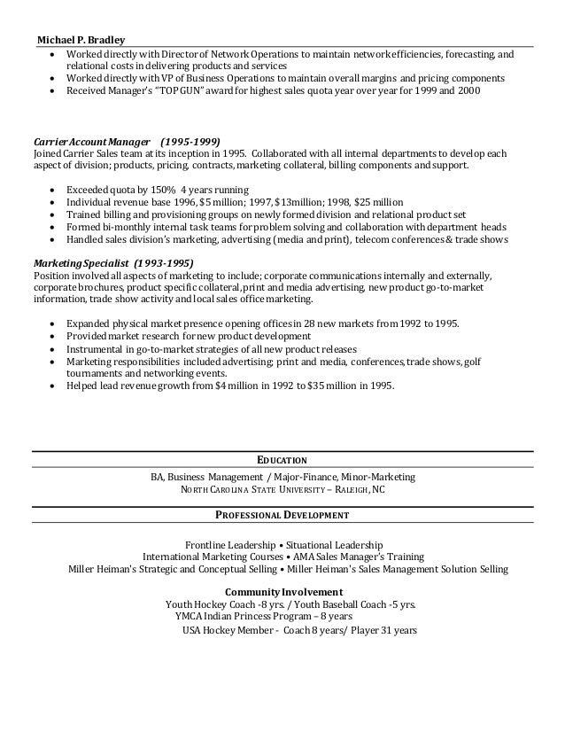 M Bradley Resume 2 2016