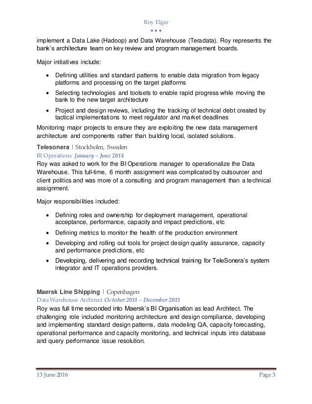 Data Architect Resume | Cover Letter