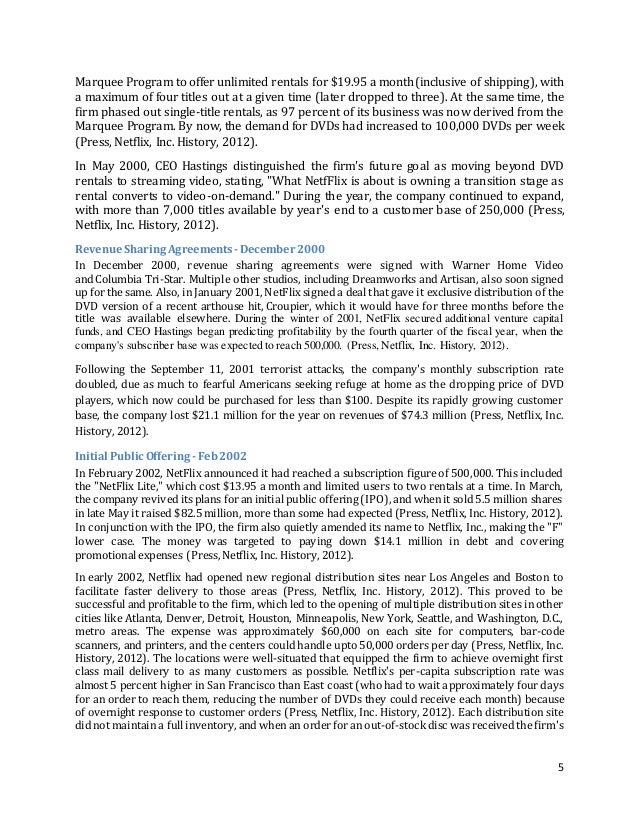 Netflix Case Study Harvard Pdf   Solution  Analysis   Case Study Help