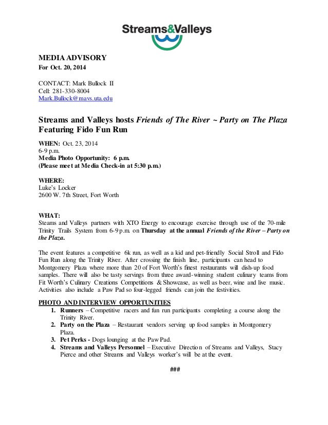 conference press release template - media advisory and fact sheet
