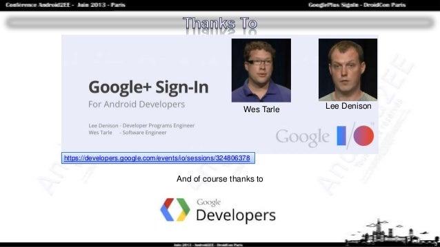 Google Plus SignIn : l'Authentification Google Slide 3