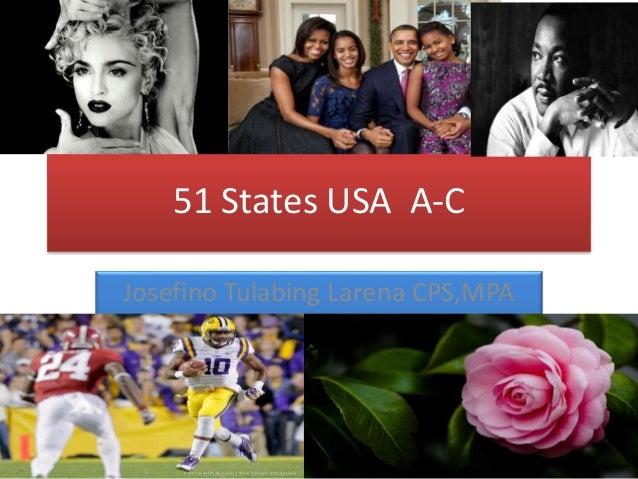 51 States USA A-C Josefino Tulabing Larena CPS,MPA