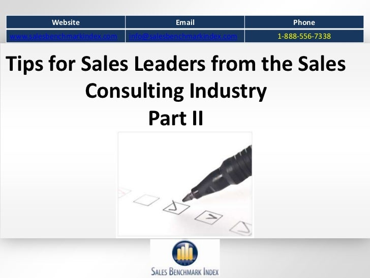 Website                         Email                  Phonewww.salesbenchmarkindex.com   info@salesbenchmarkindex.com   1...