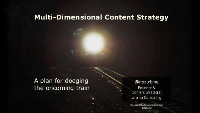 noz.urbina@urbinaconsulting.com #LavaCon Multi-Dimensional Content Strategy @nozurbina Founder & Content Strategist Urbina...
